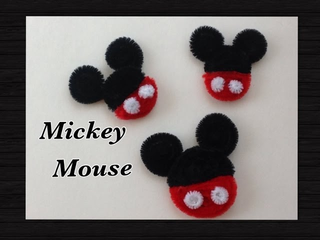Manualidades Yonaimy Mickey Mouse Hecho Con Limpia Pipas Pipe