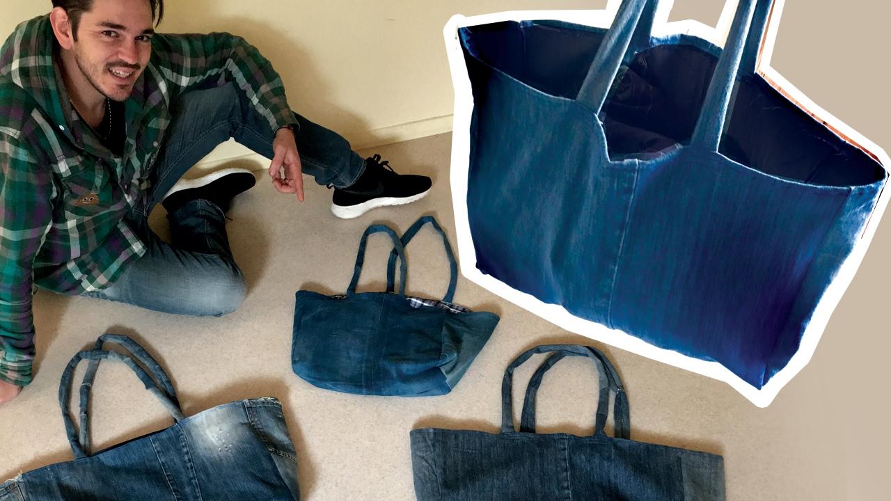 Jeans Bag - DIY Tote Bag - YouTube 6e55a76c28c6a