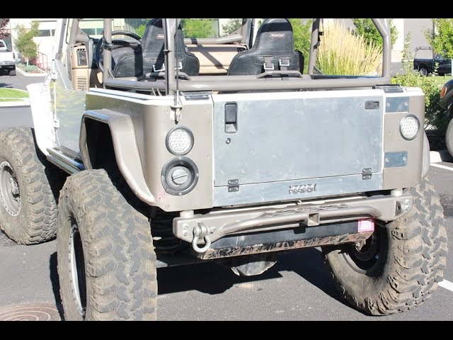 SWAG Off Road Jeep Wrangler Aluminum Fold Down Tailgate Conversion Kit
