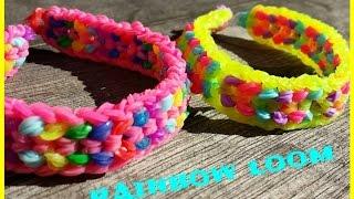 Réaliser un bracelet élastique Double capped dragon scale  -  RAINBOW LOOM  ( en français)