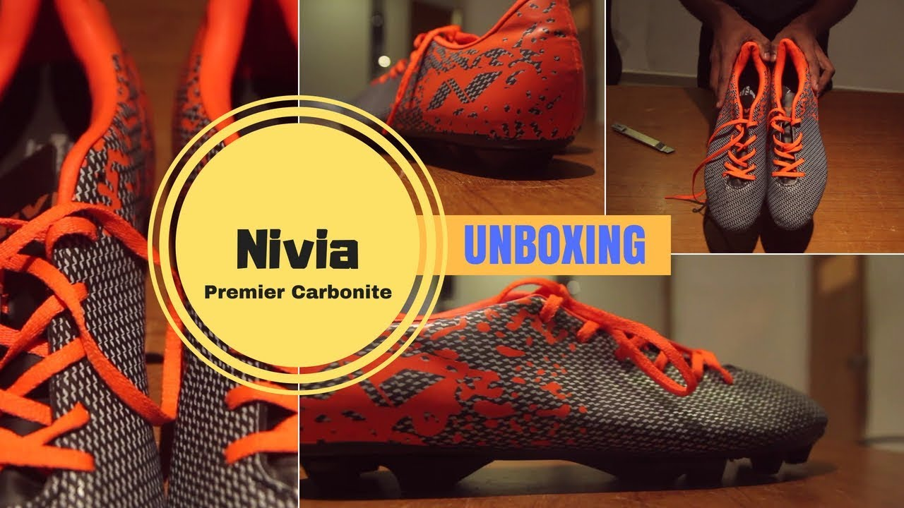 b190d540885 Nivia Premier Carbonite Football Shoes For Men Unboxing - YouTube