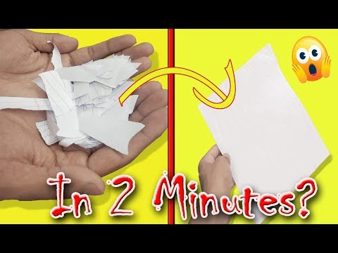 Paper Recycling at home in 2 minutes? | DIY 2019 | Tutorial | Triaro Creations