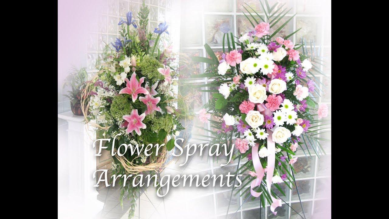 How to make fresh flower spray arrangement for sympathy tribute or how to make fresh flower spray arrangement for sympathy tribute or grand opening izmirmasajfo