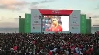 จังหวะฟรีคิก นาที่สุดท้าย โปรตุเกส vs สเปน แฟนบอลโปรตุเกสที่อยู่ทางบ้าน ลุ้นมากก!!!