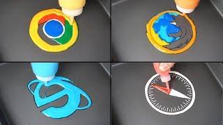 Web browser Pancake art - Google Chrome, Firefox, Explorer, Safari