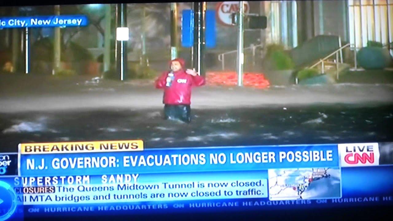Hurricane sandy coverage cnn s ali velshi youtube