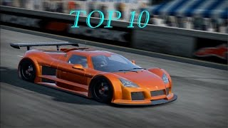 Need For Speed Shift 2 Unleashed Top 10 Cars