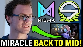 NIGMA vs SINGULARITY [Game 1] MIRACLE back to Mid with Tinker - WePlay! Bukovel Minor DOTA 2