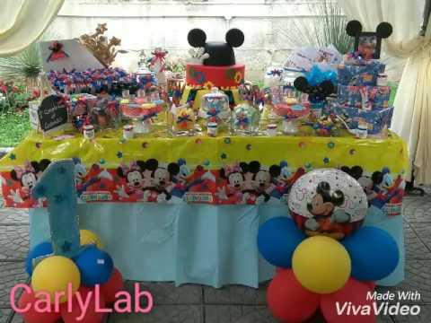 Caramellata a tema topolino by carlylab youtube - Composizione palloncini da tavolo ...