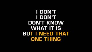 One Direction - One Thing (Karaoke)