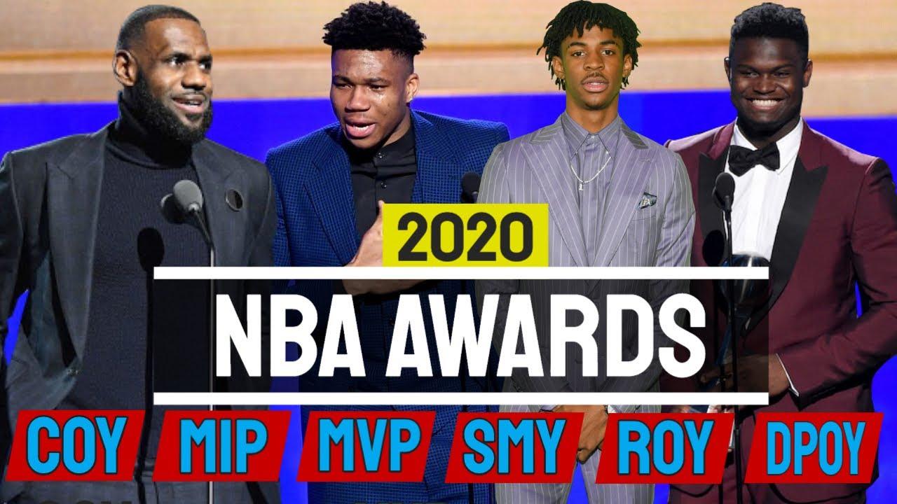 NBA awards 2020 [MVP, ROY, COY, MIP, SIXTH MAN, DPOY]