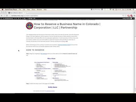 How to Reserve a Business Name in Colorado | Corporation | LLC | Partnership
