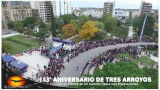 Aniversario de Tres Arroyos desde el cielo