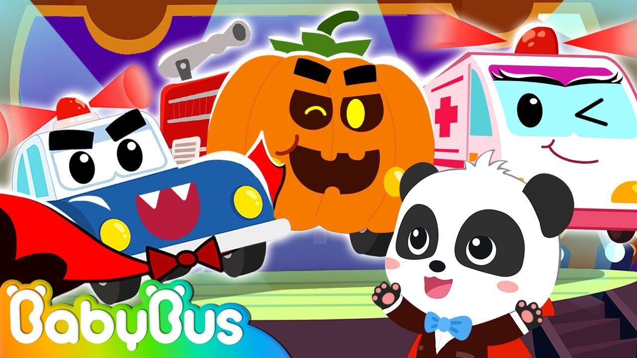 Fire Truck, Police Car, Ambulance at Halloween Party 🚓 🚑 🚒 | Nursery Rhymes | Kids Songs | BabyBus