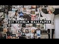 DIY Tumblr Wallpaper - Faux Wallpaper Accent Wall (2018) // Lone Fox