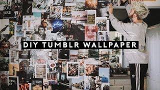 Diy Tumblr Wallpaper   Faux Wallpaper Accent Wall (2018) // Lone Fox