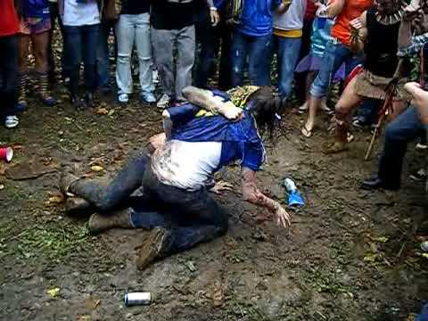 Girls Mud Wrestling