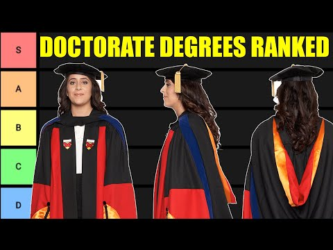 Doctoral Degree Tier List (Doctorate Degrees Ranked!)