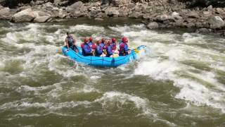 Rafting the Shoshone Rapids on Colorado River in Glenwood Canyon, Colorado