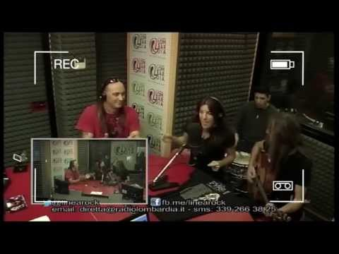 FYRE! @Radio Lombardia. Interview Linea Rock, Milan. Italy 2014