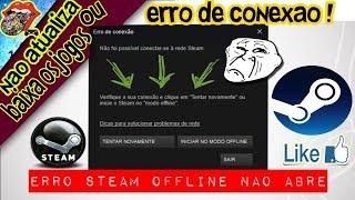 Erro da Steam não abre, erro de conexão, 2018