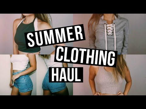 SUMMER CLOTHING HAUL 2016   Forever 21, American Apparel, & More!