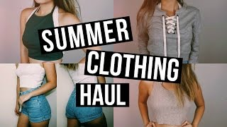 SUMMER CLOTHING HAUL 2016 | Forever 21, American Apparel, & More!