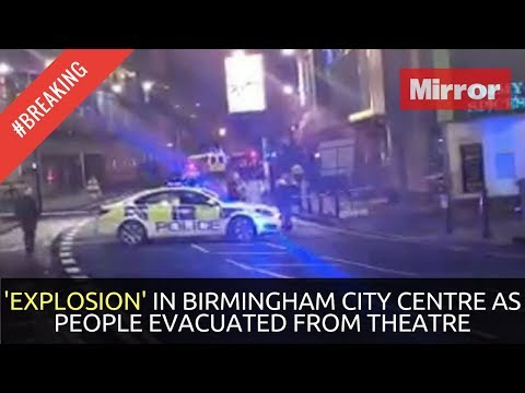 FOOTAGE OF 'EXPLOSION' IN BIRMINGHAM CITY CENTRE AS PEOPLE EVACUATED FROM THEATRE