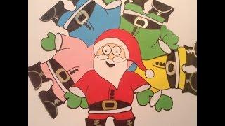 Video divertente Babbo Natale - disegno e canzoni di natale per bambini - barba bianca