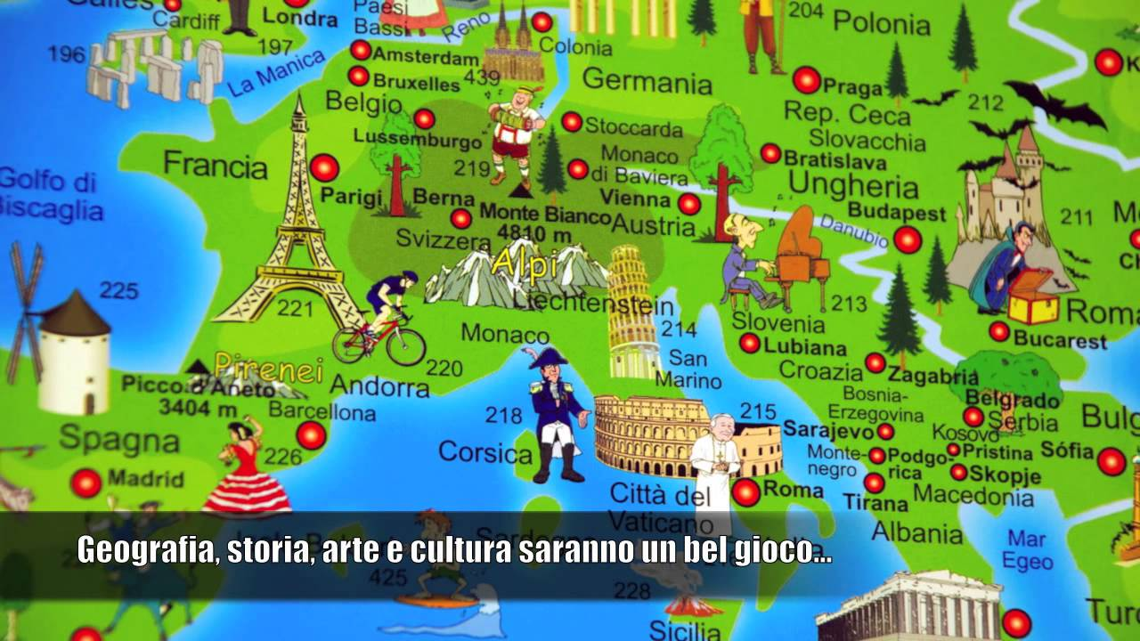 Amato Cartina del Mondo Illustrata per bambini e adulti - YouTube QS02