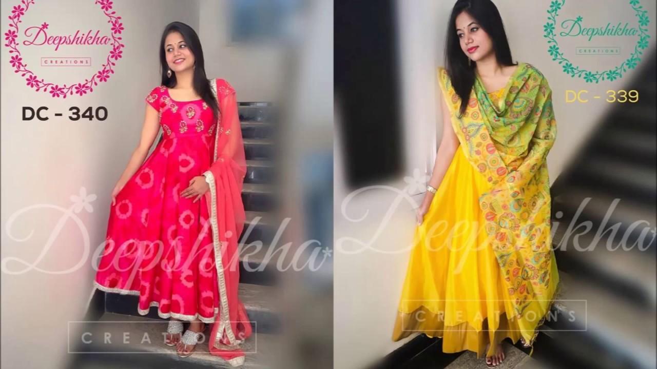 618caa741fa98 Latest floor length anarkali dress collection by Deepshika - YouTube