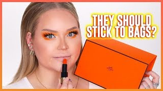67$ LIPSTICK? WTF! Hermes Lipsticks Review... THE TRUTH!