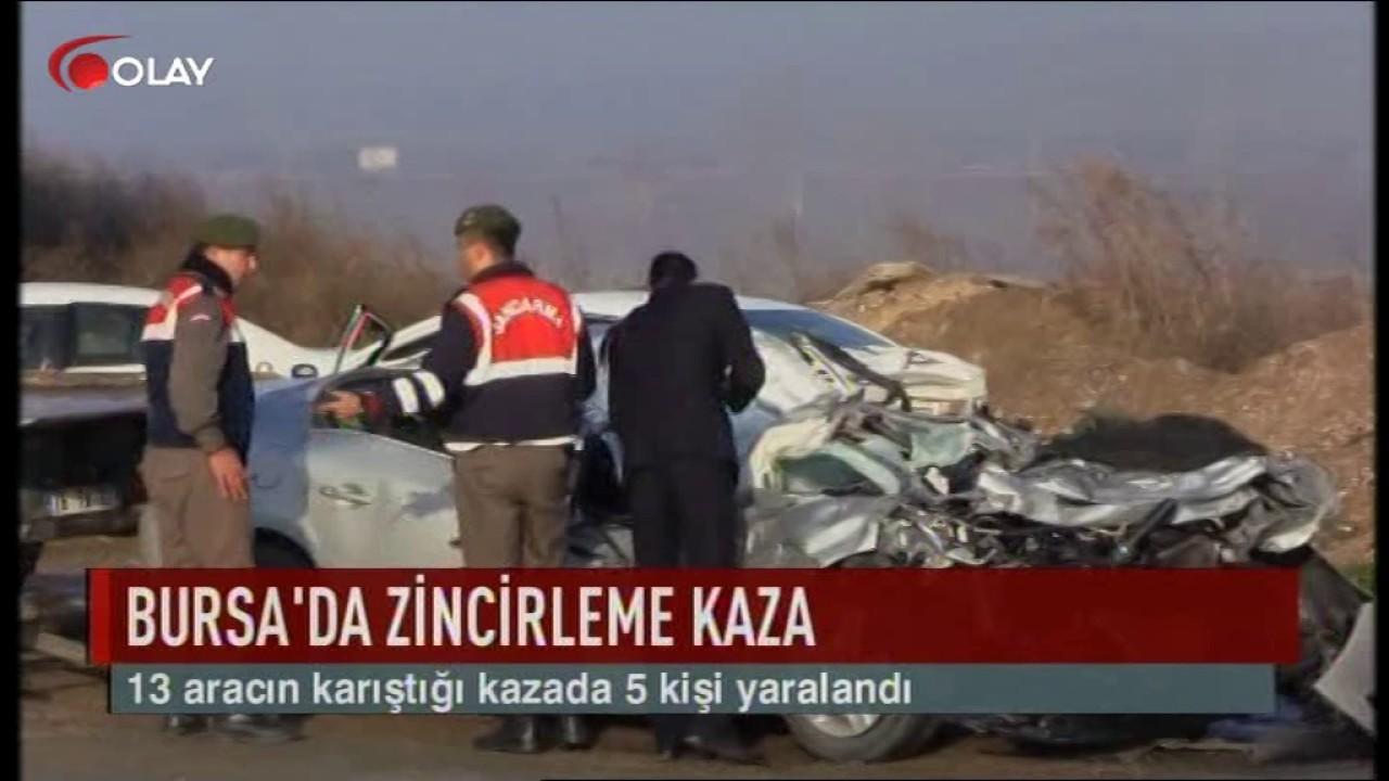 Bursa'da zincirleme kaza (Haber 27 12 2016)