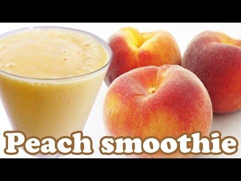 How To Make Peach Smoothie Recipe - Peaches Fruit Smoothies Recipes - Healthy Milkshake Shakes Foods