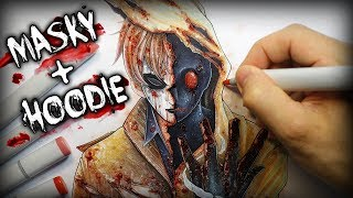 The Story Behind Masky and Hoodie (Creepypasta characters?) + Anime Drawing