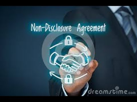 What Is Non Disclosure Agreement Youtube