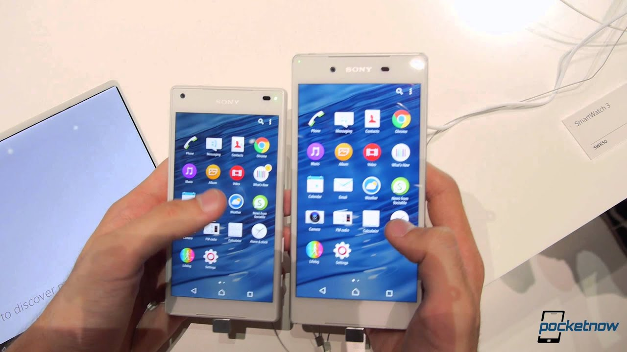 Sony Xperia Z5 vs Z5 pact Showfloor parison