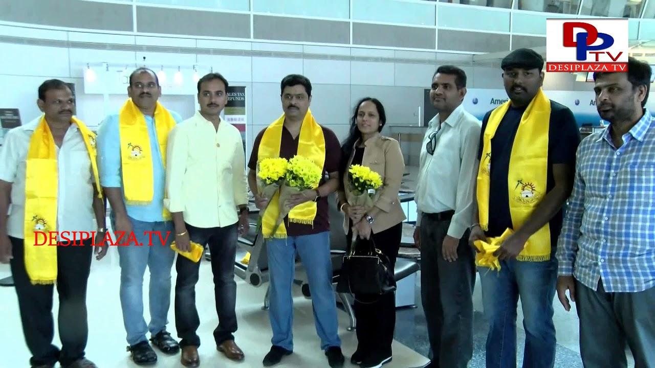 CM Ramesh arrives to Dallas to be a guest at Telugu Desam Party Mahaanadu