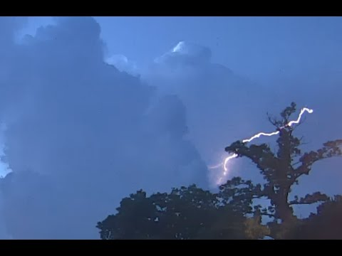 Lightning over Bayside, NY at Sunset - August 13 2016