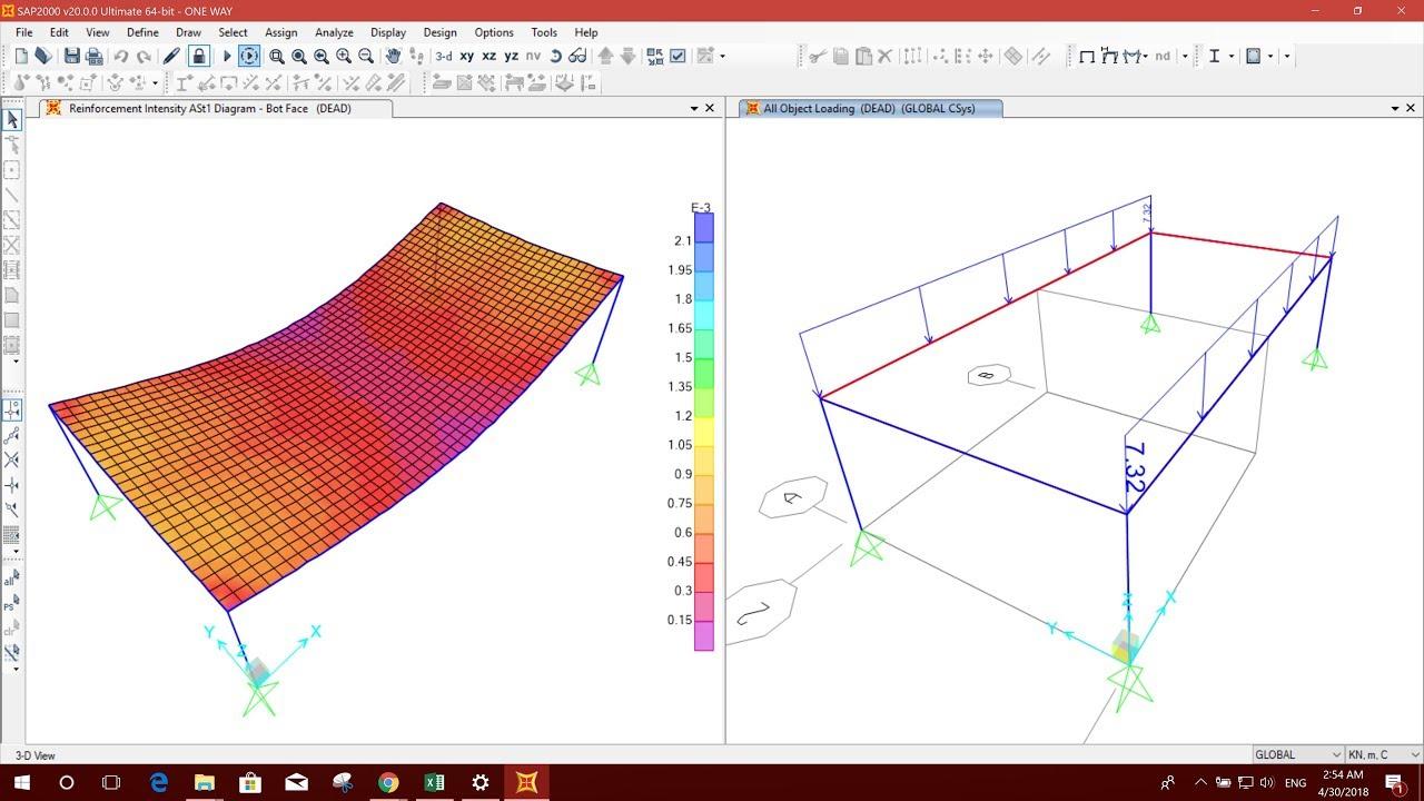 ONE WAY SLAB DESIGN/ONE WAY LOAD DISTRIBUTION IN SAP2000 V20