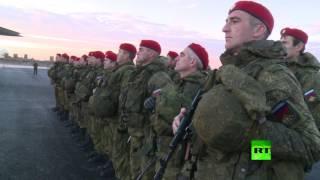بالفيديو.. قوات روسية تصل الى حلب