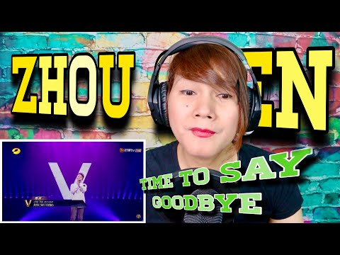 ZHOU SHEN - TIME TO SAY GOODBYE - SUPER VOCALS - REACTION