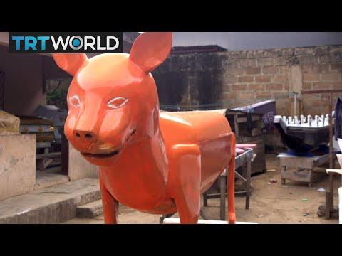 Ghana's oldest shop making fantasy coffins