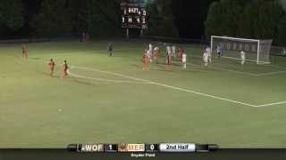 Men s Soccer Takes Top Spot in SoCon vs Mercer at Home 2014