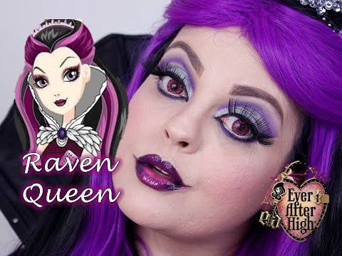 VEDA 27 - EVER AFTER HIGH RAVEN QUEEN MAKEUP TUTORIAL - MAQUIAGEM ARTÍSTICA