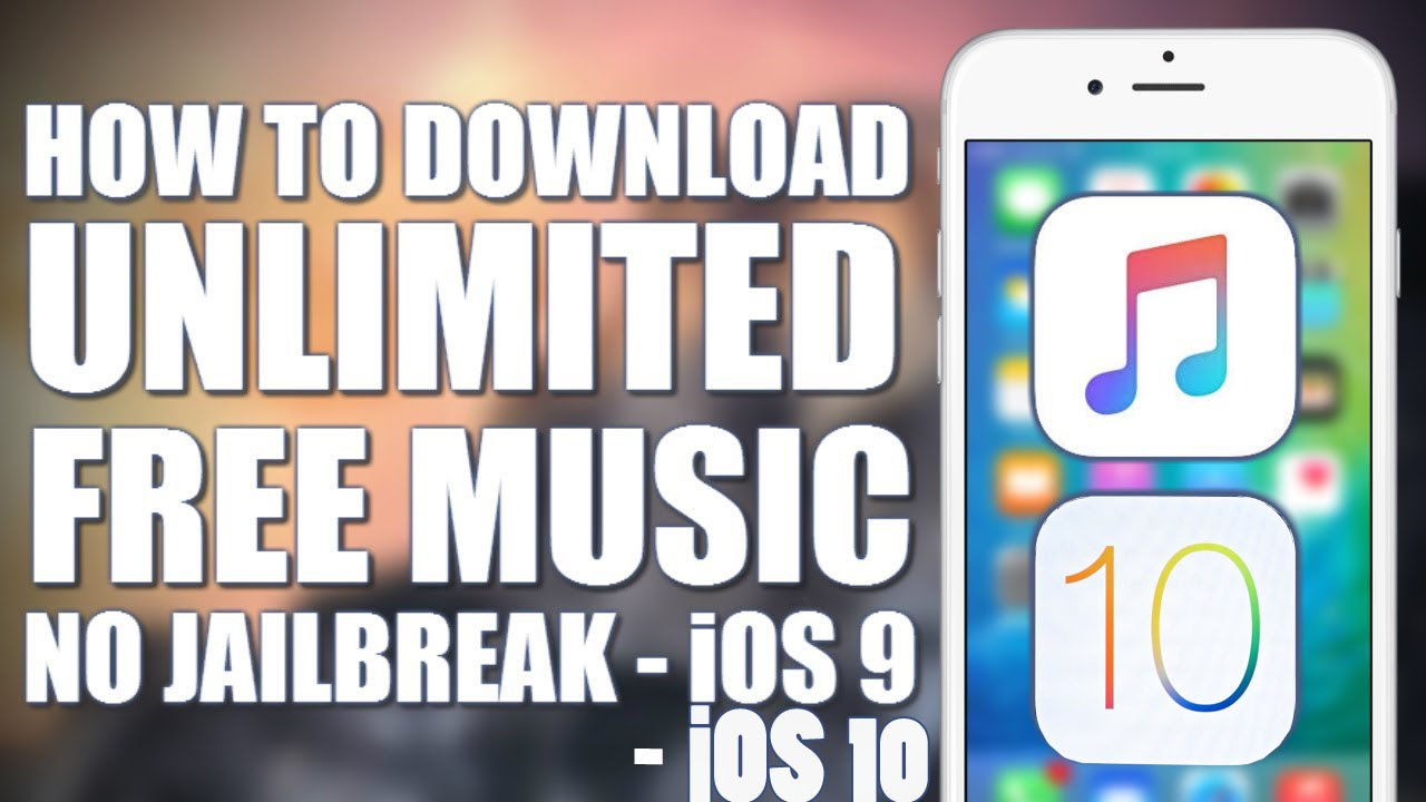 How To Download Music FREE IOS 9 3 1-10 No Jailbreak NO Crashing NO Wifi  iPhone & IPod Touch by Hacking The System