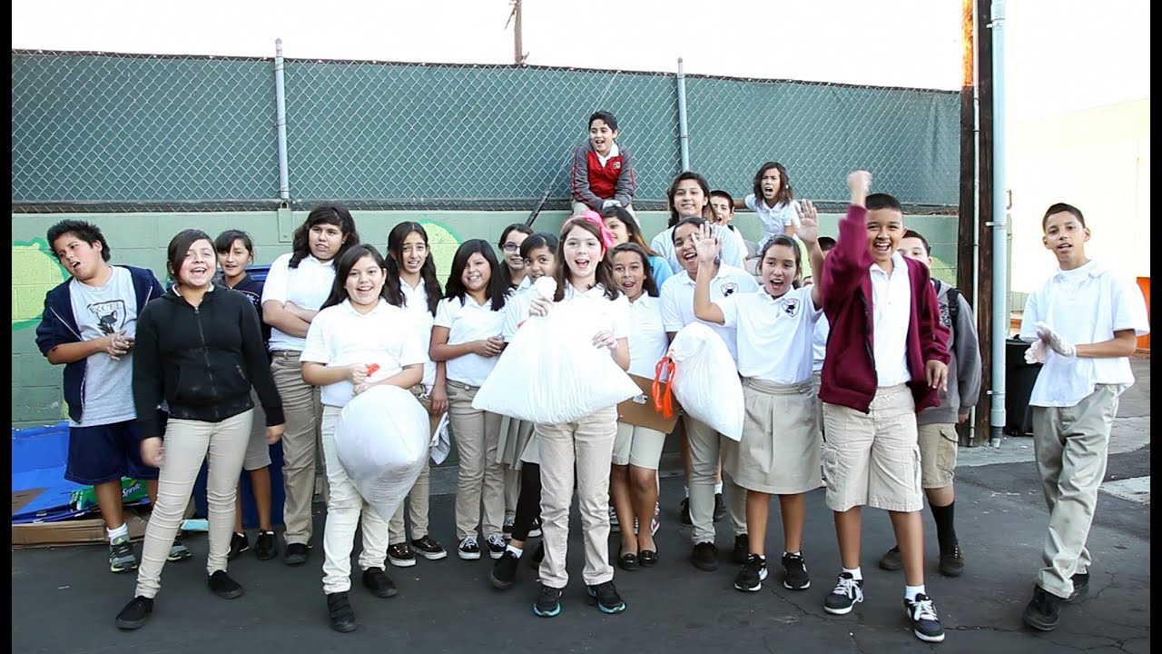 th graders lower plastic consumption at los angeles excel charter school non toxic revolution youtube also rh