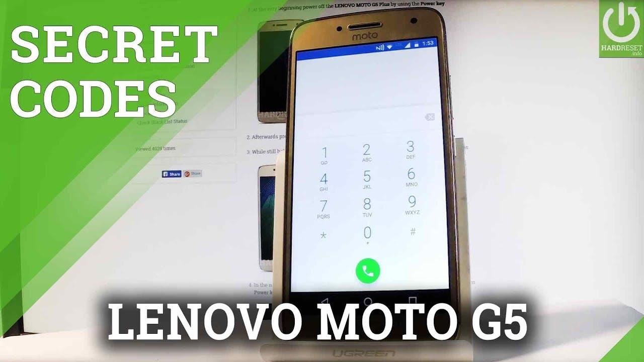 Codes MOTOROLA Moto G5 - HardReset info