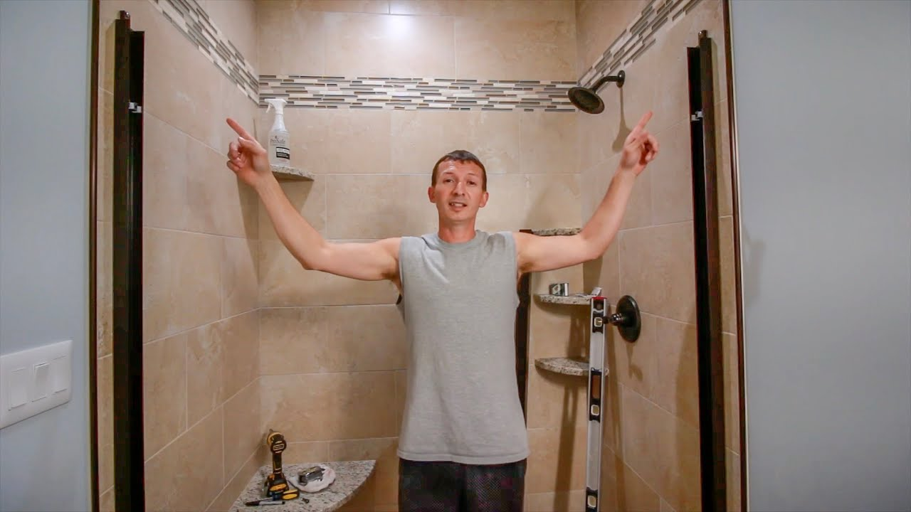 How To Install Glass Shower Doors On Porcelain Tile With