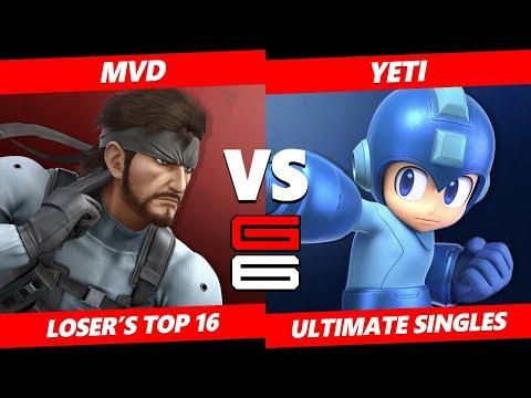 Genesis 6 SSBU - WBG   MVD (Snake) VS DB   Yeti (Mega Man) Smash Ultimate Loser's Top 16
